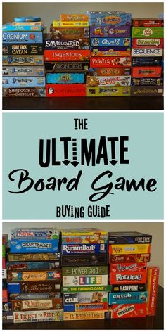 The Ultimate Board Game Buying Guide. With over 75 ideas of unique games you will love. Party Games, Couple Games, Strategy Games, Family Games