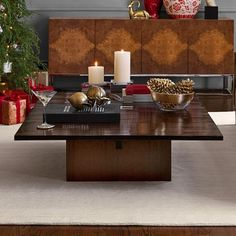 "Nassau Coffee Table Small: 46""W x 34.5""D x 14""H #williamssonoma"