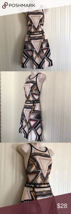 MOSSIMO patterned dress NEVER WORN Fun and unique!  Never worn and in excellent condition. Mossimo Dresses