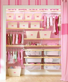 Love This Idea For The Girls Closet. One Day   Perhaps In Nuetral   Or Fun  Aqua Color Pretty In Pink   Kids Storage And Organization Ideas That Grow  On HGTV