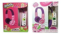 Amazon.com: Sakar My Little Pony and Shopkins Kid-Safe Headphones Bundle: Home Audio & Theater