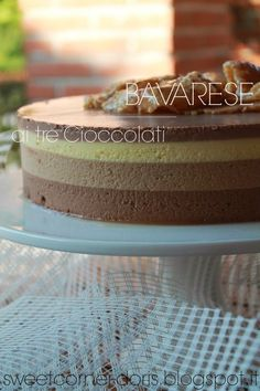 sweetcorner: Bavarese ai tre Cioccolati di Luca Montersino