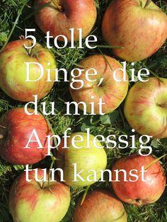 Von Haushaltsreiniger über Haarspülung. Hier sind 5 Anwendungen für Apfelessig.