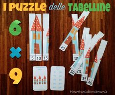 puzzle per imparare tabelline