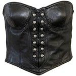 Preowned Gianni Versace Leather Bustier Fall 1996