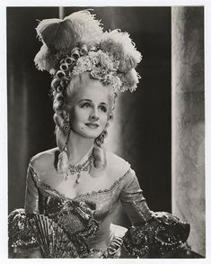 """Norma Shearer as """"Marie Antoinette"""" 1938"""