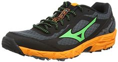 Trail Running Shoes From Amazon * You can get more details by clicking on the image.(It is Amazon affiliate link) Disc Golf Shoes, Trail Running Shoes, Ss 15, Courses, Green And Orange, Mizuno, Link, Sneakers, Wave