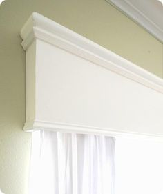 crown molding cornice window treatments | to add some architectural interest to the window beyond just window ...