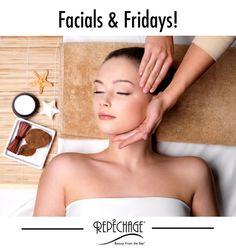 Two things that make everyone feel good?! #facials #Fridays www.repechage.com