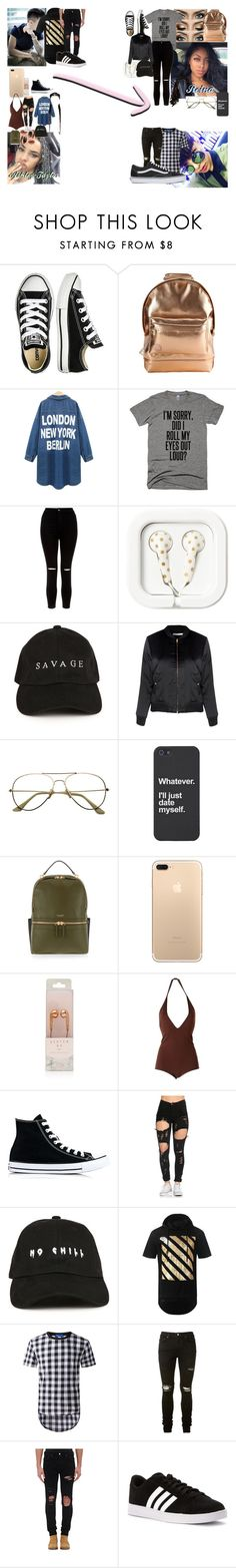 """""""No one But You"""" by teylorann on Polyvore featuring Converse, Mi-Pac, New Look, Glamorous, Henri Bendel, Make, Givenchy, AMIRI, adidas and Vans"""