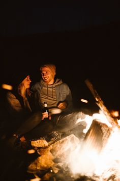 Kelowna-Adventure-Couple-Session-Above-the-City-At-night-With-A-Bonfire-And-Craft-Beer by Abigail Eveline Photography Adventure Couple, Bonfire Night, Night Couple, Night City, Craft Beer, Surfing, Events, Sunset, Concert