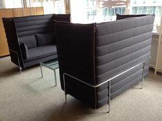 Designermöbel Stuttgart sofa alcove highback seat in rot 35 nachlass used design