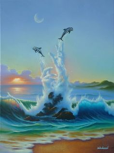 The Playful Sea * Artist Jim Warren Fantasy Myth Mythical Mystical Legend Whimsy Hidden Surreal Nature