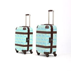 Luggage Sets Collections | Unitravel Retro Luggage Set Rolling Spinner Lightweight Suitcase Set Apply to 20 and 24 2024 blue * See this great product.(It is Amazon affiliate link) #tagblender