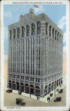 1912 – The Herald Building, Calgary, Alberta Alberta Canada, Historical Photos, Calgary, Vintage Images, Louvre, History, City, Mud, Historia