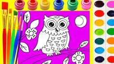 Little Kinder Club - Owl Coloring Page for Kids to Learn to Color and Paint