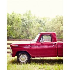 I dream of a vintage truck like this print off Garden and Gun website.