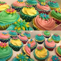 #ColourSplash #Cupcakes #Bright #Fun #Pastel #Summer #Hobbybaker