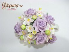 Bouquet flores en azúcar / Sugar flower by YOCUNA TARTAS DECORADAS, via Flickr