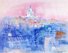 View of Sacré Coeur Artwork by Raoul Dufy Hand-painted and Art Prints on canvas for sale,you can custom the size and frame