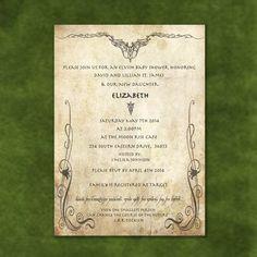 Lord of the Rings Digital Printable Birthday/Wedding/Shower Invitation