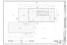 Plan - Edith Farnsworth House, 14520 River Road, Plano, Kendall County, IL