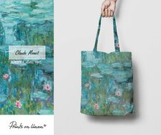 Claude Monet painting white Water lilies oil paintings on canvas impression art Wall art pictures Home Decor Claude Monet, Disability Art, Personalised Placemats, Monet Water Lilies, Portraits, Linen Bag, Canvas Art Prints, Canvas Tote Bags, Birthday Gifts
