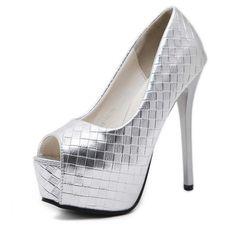 531f117cd71185 Silber Pump Peep Toe Prom Schuhe mit Stiletto Heels für weniger -  TheCelebrityDresses Source by TheC
