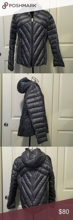 BCBG Generation Grey 80% Down Filled Puffer Jacket BCBG Generation Grey 80% Down Filled Puffer Jacket. Only worn once by myself. In EUC condition. BCBGeneration Jackets & Coats Puffers