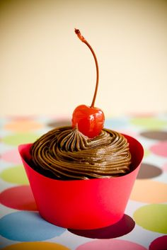 Cherry Coke Cupcakes with Cola Frosting