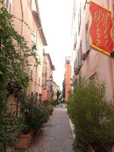 Mouans Sartoux-nimisessä kylässä viherkasvit tuodaan parvekkeiden puutteessa kaduille.