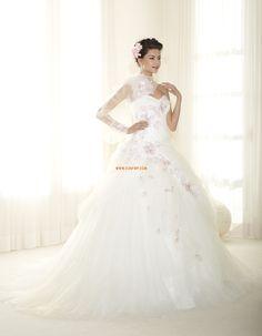 A-vonalú Divatos és modern Virág(ok) Menyasszonyi ruhák 2015