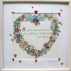 Weiteres - Geschenk zur Hochzeit - handgemalt - Unikat - ein Designerstück von marenschmidt bei DaWanda