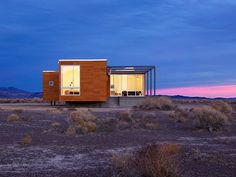 Alone in the desert?  <3 the black, red and white color scheme  :)  Absolute Comfort Shaping Nevada Desert Vacation Home