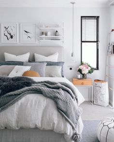 Gorgeous 60 Simple and Elegance Scandinavian Bedroom Designs Trends