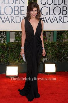 Jo Champa Sexy Black Evening Dress 67th Annual Golden Globe Awards TCD6213 #EveningDress #EveningDresses