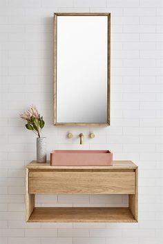 Bathroom Vanity White Floating 35 Ideas For 2019 Bathroom Sink Vanity, Bathroom Shelves, Bathroom Flooring, Bathroom Furniture, Master Bathroom, Remodel Bathroom, Bathroom Storage, Antique Furniture, Modern Furniture