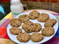 GALLETAS SALUDABLES DE AVENA Y CHOCOLATE! Facil, Vegano y Delicioso - YouTube