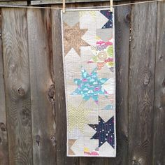 Nested Star table runner by Cynthia Frenette using pattern by Blueberry Patch blog and MTK Custom Fat Quarter Bundle from Warp & Weft