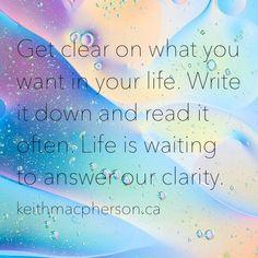 #keithmacpherson #dailyintention #oprah #clarity #visionboard #manifest #lawofattraction #lifecoach #truth