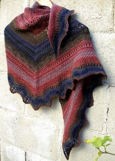 handspun lace shawl. luv these color blends. unusual