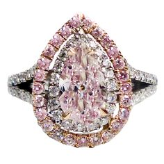 Outstanding Natural Pink Diamond Ring