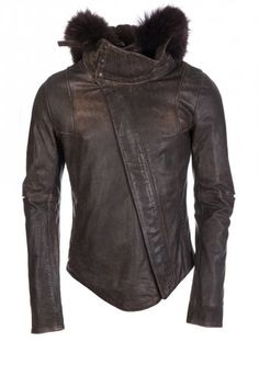 Delusion Defender Leather Jacket Brown