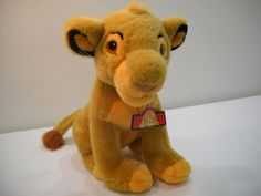 Vintage Simba Lion King Plush Stuffed Animal Toy From The Disney Store With Tag by SeaPillowTreasures on Etsy