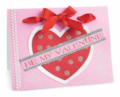 Glitter Dot Heart #Valentine's Day #Card by Recollections™