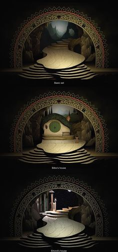 The Hobbit. Redgrave Theatre, Farnham. Scenic design by Colin Winslow.