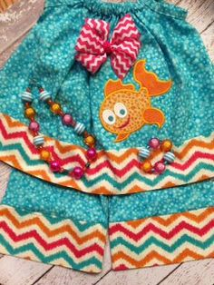 Little Fish Lets Go Swimming by cranberryridgedesign on Etsy, $49.50