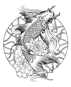A simple Mandala with a giant fish (carp)From the gallery : Mandalas