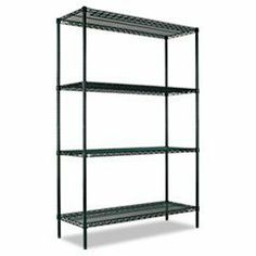 All-Purpose Wire Shelving Starter Kit, 4 Shelves, 48w x 24d x 72h, Green by Alera®. $288.64. Universal storage solution ideal for industrial, food service and medical and all other storage needs. Special Green All-Purpose finish is National Sanitation Foundation (NSF) certified for wet and dry environments. Long lasting powder coat finish resists corrosion in even the harshest environment. Heavy duty shelves withstand constant re-stocking. Can be used in freezer applications an...