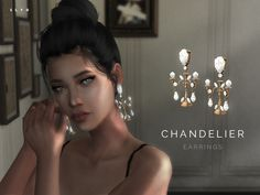Chandelier earrings for The Sims 4
